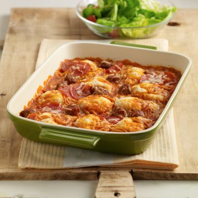 Pepperoni Spaghetti Bake Recipe - Delish.com