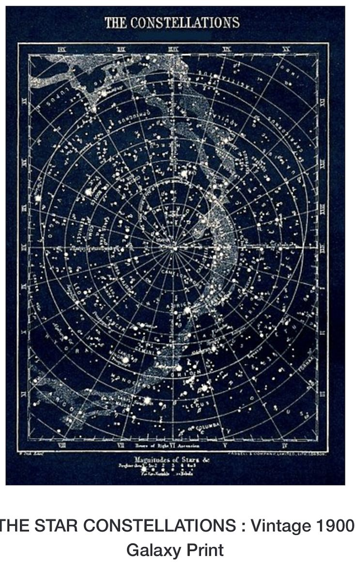 astronomy star charts constellations - 735×1168