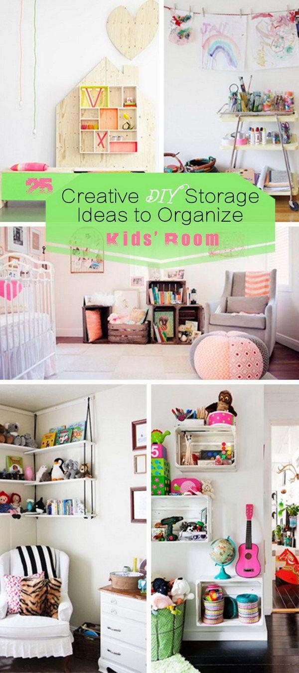Creative DIY Storage Ideas to Organize Kids' Room!