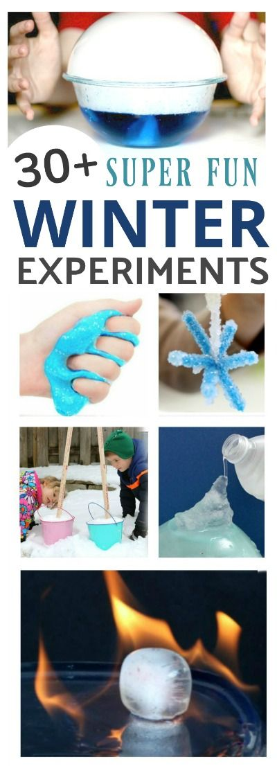 "30+ AMAZING WINTER EXPERIMENTS FOR KIDS!  These are ""so cool!"" #winterscience #scienceforkids #winteractivitiesforkids"
