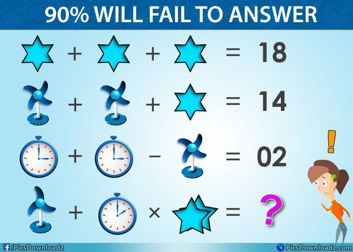 Table Fan Clock Star Viral Facebook Math Puzzle With Correct Answer Maths Puzzles Math Pictures Math Logic Puzzles Puzzle time worksheet answers