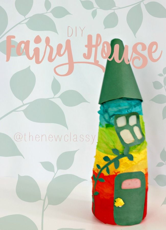 Are you looking for a fun craft to make with the kids? Check out our DIY Fairy House. It's a cute, easy and inexpensive upcycled creamer bottle craft.