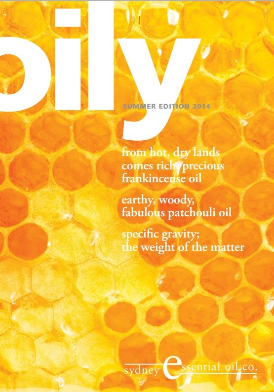 Summer 2014 | Oily Magazine | Frankincense oil | Specific Gravity | Patchouli oil | Beeswax Download your copy http://www.seoc.com.au/downloads/Oily-News-Summer-2014.pdf