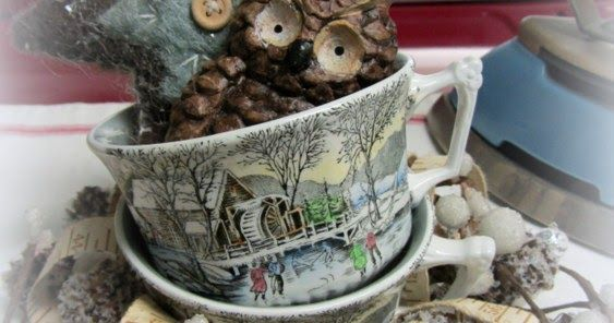 adams winter scenes | Organized Clutter: Tea Time 12 - Wm Adams & Sons Winter Scenes