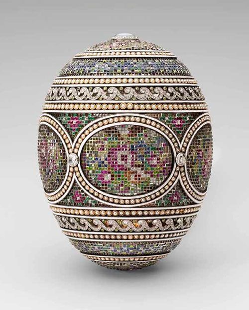 Fabergé Mosaic Imperial Easter Egg Acquired By Queen Mary And King George  V, 1933