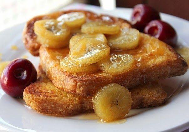 МАСТЕР ШЕФ...: Французский тост с бананово-карамельным соусом