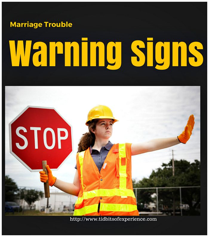 Marriage Trouble Warning Signs. Are you married and lonely? Identify these warning signs  for marriage trouble by @tidofexperience
