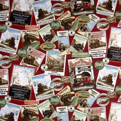 17 best images about choo choo on pinterest thomas the for Fabric with trains pattern