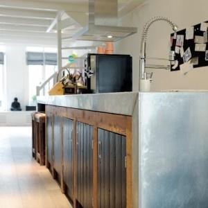 Keukenblad zink.