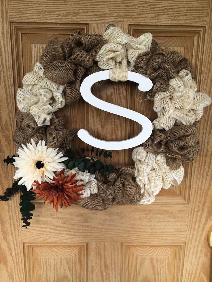 My initial front door wreath ;))