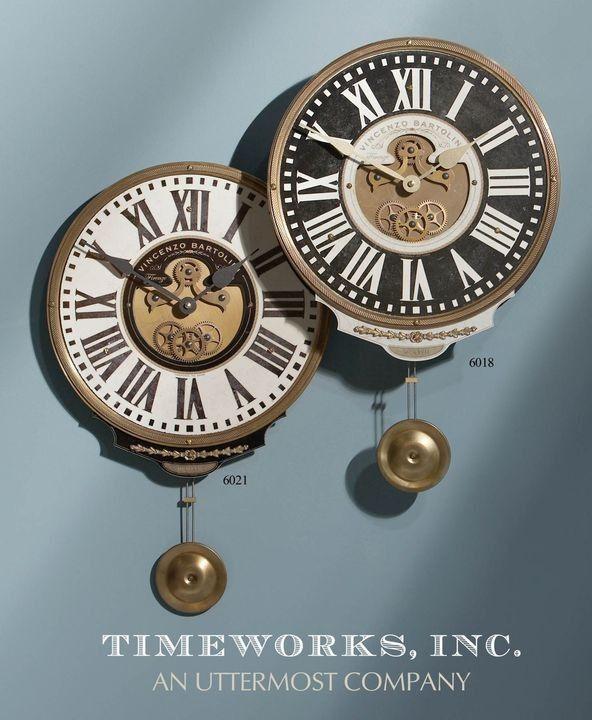 Uttermost Vincenzo Bartolini Cream Wall Clock 06021 - Wall Clocks - Wall Decor