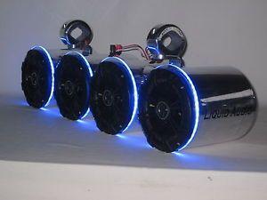 Kicker Pol LED's Double Wakeboard Boat Tower Speakers Marine UTV ...