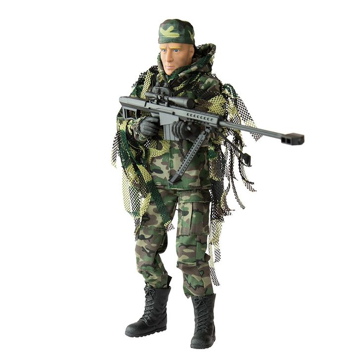 Army Men by World Peacekeepers Action Figures: 30-Pt. Full-Motion 12-Inch Army Toys w/ Ninja Grip, Military Sniper Rifle, Binocs & Ghillie Suit (Jungle Sniper). HIGHLY DETAILED 12-INCH MILITARY ACTION FIGURES @ 1:6 SCALE: World Peacekeepers collectible toy army men deliver on authentic detail like no other brand. 30+ JOINTS LET THIS ACTION FIGURE MOVE LIKE A REAL MAN: Set the other army toys aside -these lifelike collectible toy soldiers are easy to position any way you want. COMES W/...