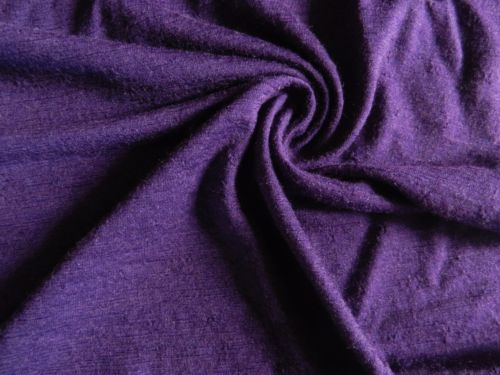 Purple-100-NZ-Merino-Wool-Fabric-Jersey-Knit-by-yard-Sewing-Outdoor-Apparel