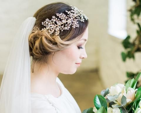 Pearl Clusters and Crystal Hair Vine, Sorcha