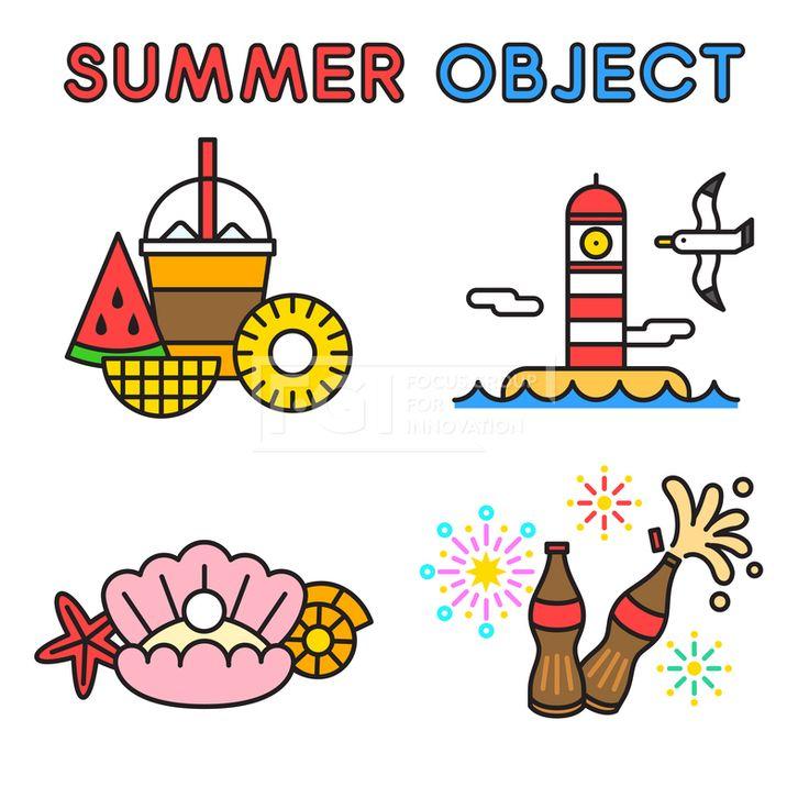 ILL195, 프리진, 일러스트, 여름, 계절, 시즌, 아이콘, 오브젝트, 단순, 심플, 더위, 무더위, 한여름, 모양, 세트, 묶음, 라인, 선, 수박, 과일, 음식, 시원한, 음료, 간식, 디저트, 생과일, 군것질, 망고, 파인애플, 조각, 얼음, 컵, 잔, 주스, 구름, 날씨, 여행, 야외, 열매, 바다, 해변, 해변가, 휴식, 휴가, 바캉스, 휴양지, 여행지, 등대, 갈매기, 동물, 조류, 새, 조개, 어패류, 갑각류, 불가사리, 콜라, 탄산, 소다, 병, 폭죽, 불꽃놀이, 이벤트, 빨대, #유토이미지