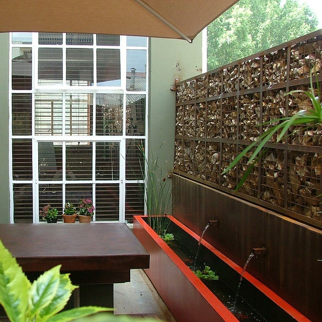 1000 images about gabions on pinterest water features for Garden fence features