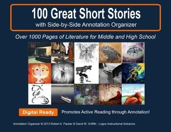 Short stories are powerful, accessible, and engaging vehicles for teaching critical reading skills and for propagating a love of literature! So we've compiled over 100 GREAT SHORT STORIES designed to improve annotation skills, bolster reading comprehension, and cultivate literary appreciation.