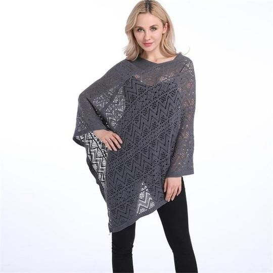 Summer Sexy Bikini Cover Up Thin Sweater Women Solid Hollow Out Poncho Cardigan Plus Size Sweaters Pullovers PH03 17