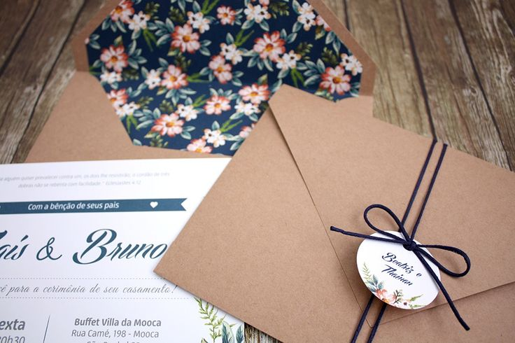 Convite de Casamento | Folha de Outono | Elo7