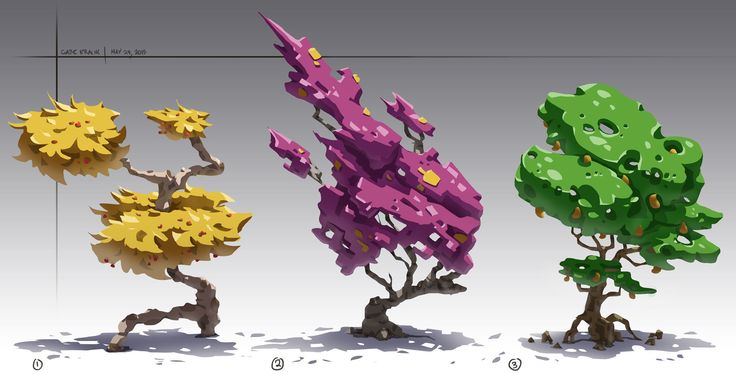 ArtStation - Stylized Trees, Gabe Kralik