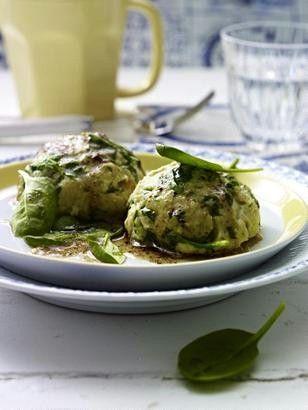 Das Rezept für Spinat-Knödel mit Parmesan und weitere kostenlose Rezepte auf LECKER.de