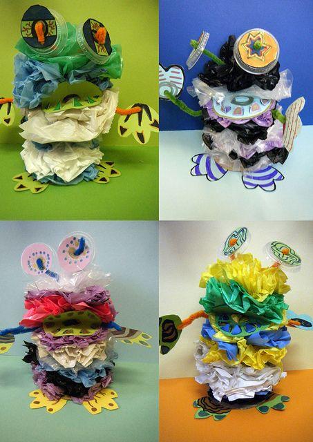 Aiiiiiieeeeeee! Plastic bag monsters! #monsterslive #iseemonsterseverywhere