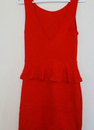 Kup mój przedmiot na #vintedpl http://www.vinted.pl/damska-odziez/sukienki-wieczorowe/17838009-zara-czerwona-sukienka-z-baskinka-36-38