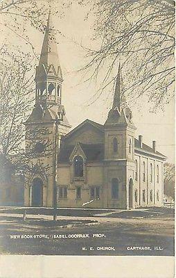 IL-Carthage-Illinois-RPPC-Methodist-Episcopal-Church-Isabel-Cochran