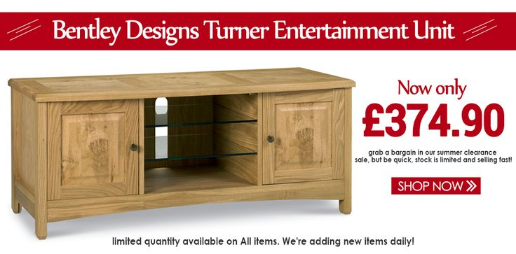 Last Weekend Of SUMMER SALE Buy & Save More On Bentley Designs Turner Entertainment Unit at Furniture Direct UK. #BentleyDesignsFurniture #Online Furniture #SummerSale2017 #FreeShipping
