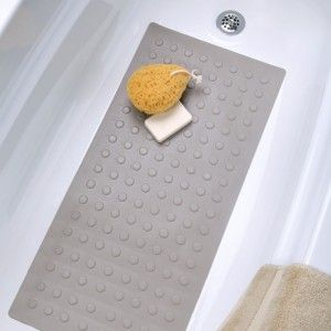 Almond Rubber Bath Mat   Fits Standard And Extra Long Tubs!