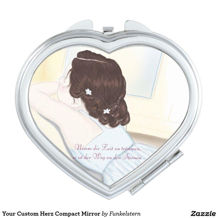 Your Custom Herz Compact Mirror Taschenspiegel