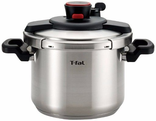 #3. T-fal P45007 Stainless Steel Pressure Cooker, 6.3-Quart, Silver