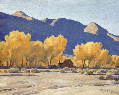 Cabin Amongst The Cottonwoods by Maynard Dixon