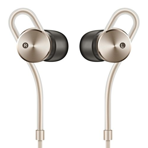 [USD79.00] [EUR70.72] [GBP57.06] Original Elegant Portable Huawei Noise-Canceling HiFi Tone Dynamic + MI L-shaped Plug Pin Woven Style Wire Earphone AM185 with Charging Adapter for Mobile Devices with 3.5mm Earphone Port(Champagne Gold)