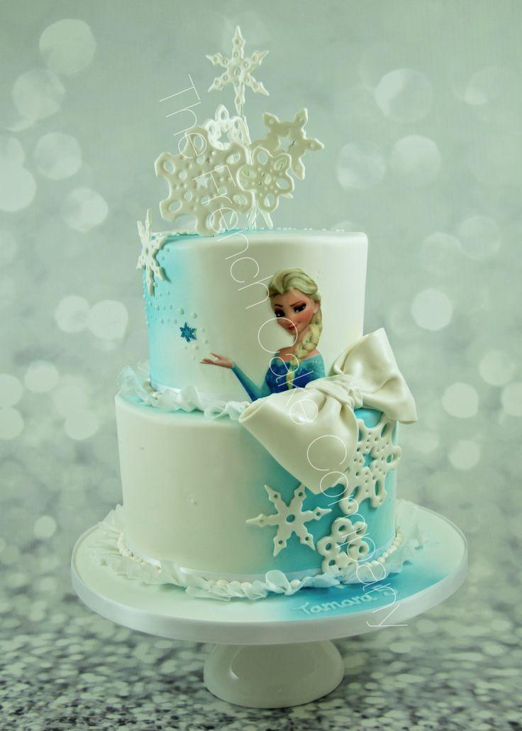 Pièce montée Reine des Neiges Elsa Frozen Cake Cake Design Belgique