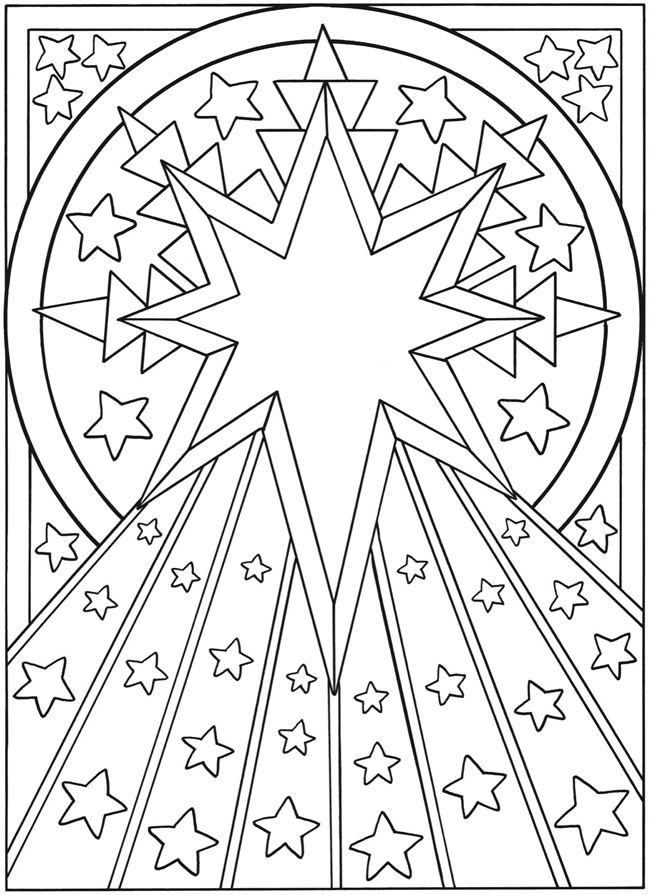 Welcome To Dover Publications Lets Color Together Sun Moon And Stars