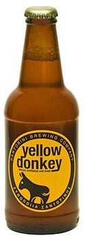 Yellow donkey beer - Santorini