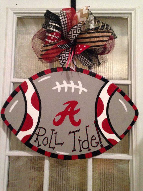 Roll Tide Alabama College Football Door Hanger