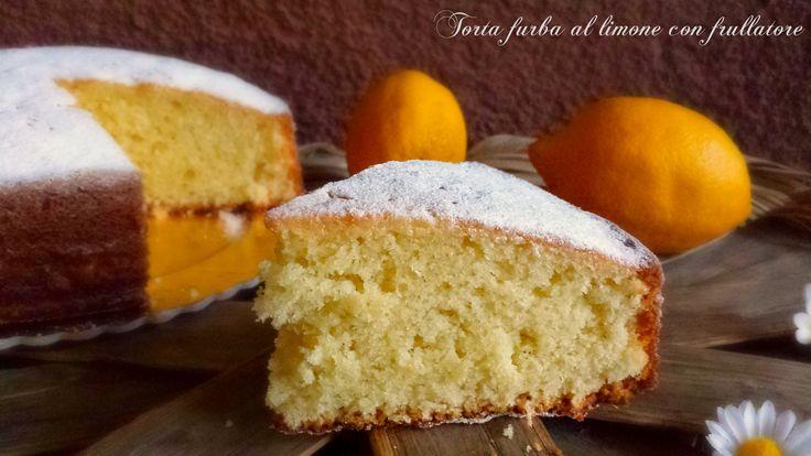 Torta furba al limone con frullatore