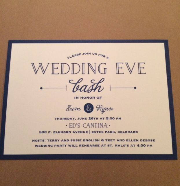 Sams Club Wedding Invitations: Sam And Ryan's Rehearsal Dinner Invitation In Blue And