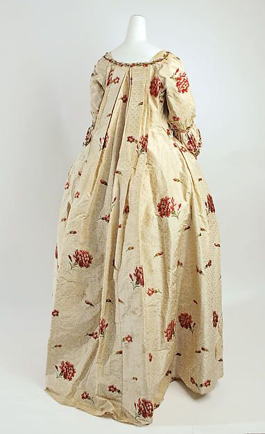 Dress Date: 1750–75 Culture: British Medium: silk Dimensions: Length at CB (a): 58 in. (147.3 cm) Length at CB (b): 39 1/4 in. (99.7 cm) Credit Line: Gift of Joan F. Wilson in memory of Isabel Marindin Ferguson, 1980 Accession Number: 1980.600a, b:
