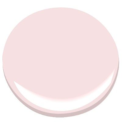 Benjamin Moore Cotton Candy  Light pink tint that will coordinate beautifully with wall art.