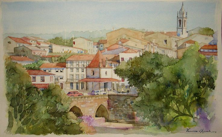 Barcelos, watercolour by Vanessa d'Azevedo