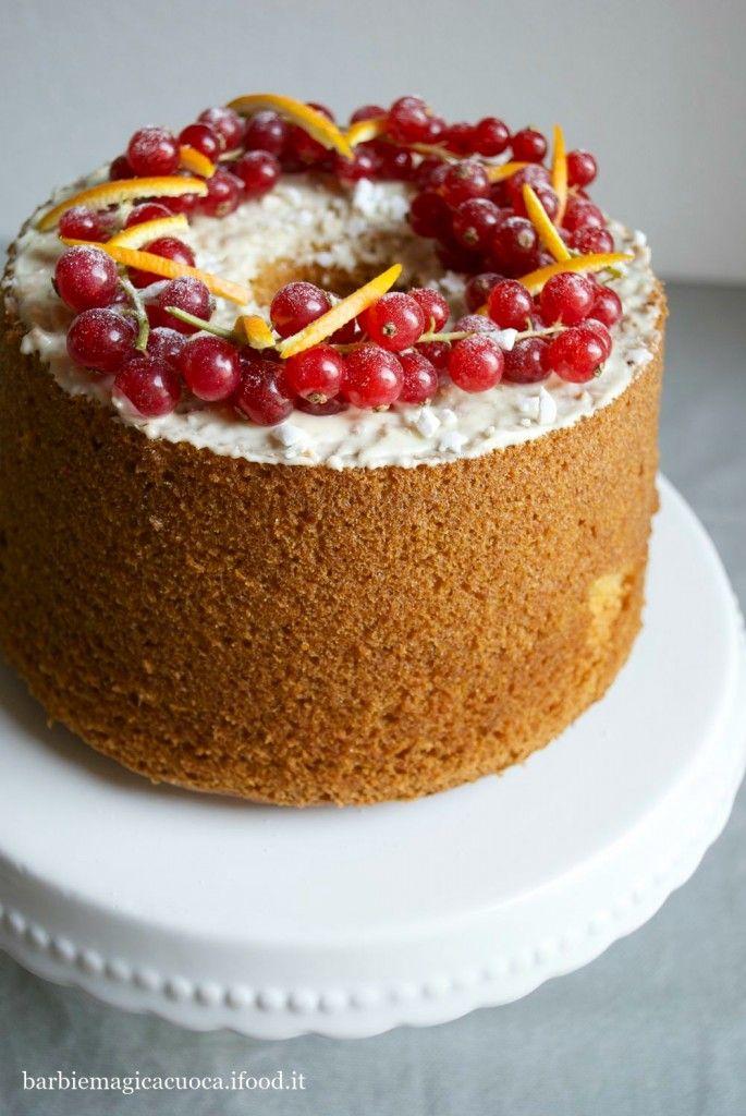 Torta fluffosa speziata all'arancia - christmas chiffon cake