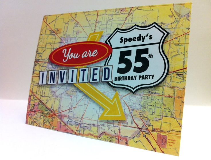 Invitation for my dad's birthday. Road Trip themed party!