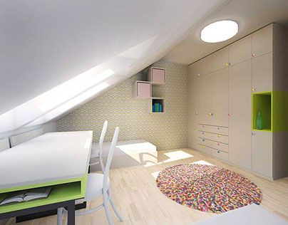 """Check out new work on my @Behance portfolio: """"Children room for two girls"""" http://be.net/gallery/33989108/Children-room-for-two-girls"""