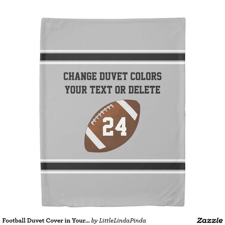 Double Sided Football Duvet Cover in Your Football Bedroom Decor COLORS, TEXT or Delete. CLICK: http://www.zazzle.com/pd/spp/pt-ramcolifestyles_duvetcover?dz=b113dae1-5aa9-484e-8cef-897441c2b238&clone=true&pending=true&style=twin&design.areas=%5Bramco_duvetcover_twin_front%2Cramco_duvetcover_twin_back_back%5D&view=113810831196340327&CMPN=shareicon&lang=en&social=true&rf=238147997806552929 Boys Football Bedroom Decor. CALL Designer Linda for more football room decor for boys and men…