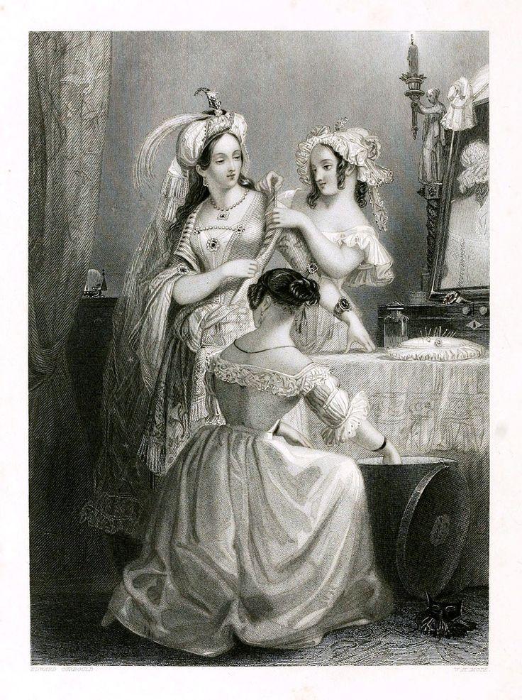 Дама и обслуживающий персонал