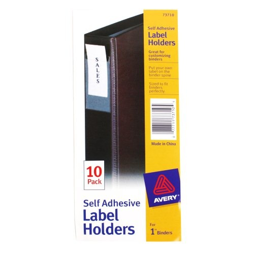 """Avery Self-Adhesive Label Holders For 1"""" Binders"""